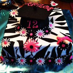 Taylor's graduation cake made by Kaley Cakes.