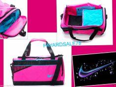 1e8bc61d26 Nike medium varsity duffle bag pink   blue   black gym travel nwt duffel  ba4732