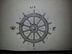 Ships wheel, compass rose