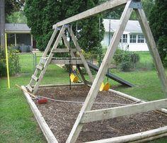 Koester Family: Refinished Swingset