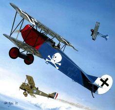 1918 06-06 Jasta 15 Fokker DVII 382-18 Georg von Hantelmann - Iain Wylie - Osprey