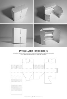 Integrated Divider Box – structural packaging design dielines