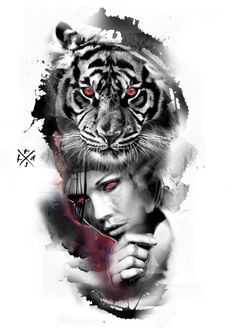 Chicano Tattoos, Body Art Tattoos, Hand Tattoos, White Tiger Tattoo, Black And Grey Tattoos, Arm Sleeve Tattoos, Chest Tattoo, Girl Face Tattoo, Girl Tattoos