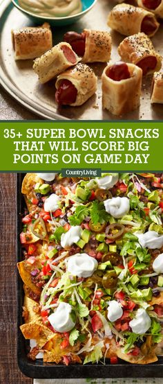 Need more ideas for game-time snacks? #superbowlparty #superbowl #superbowlsnacks #superbowlfood #superbowlappetizers