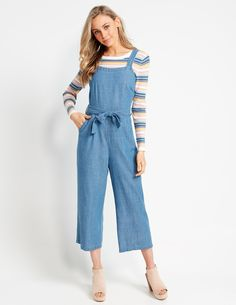 Image for Denim Culotte Playsuit from Dotti