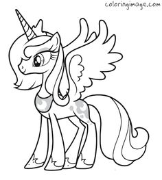 My little pony coloring page (Princess Luna)