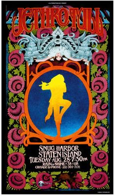 No way! Jethro Tull was here! Jethro Tull and Meow Man! Bob Masse is the artist of this beautiful poster.