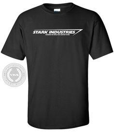 99f7e5fc3fd1 Stark Industries T-Shirt Iron Man Tony Stark Tee Shirt Marvel
