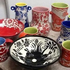 Carol Ross, sgraffito ceramics mtcontempo.com