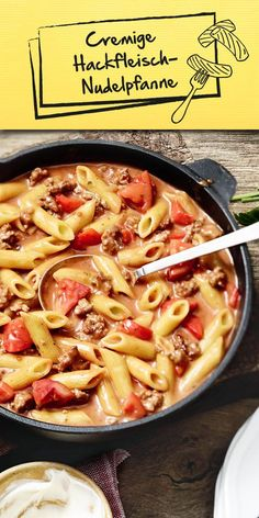 Creamy minced meat pasta pan with vegetables Easy Cooking, Cooking Recipes, Healthy Recipes, Easy Dinner Recipes, Pasta Recipes, Soul Food, Food Hacks, Food Inspiration, Food Porn