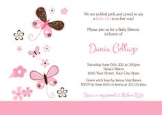 Butterflies Baby Shower InvitationGirl  DIY by PinkSkyPrintables, $12.00