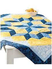 Pieced Lap Quilt & Throw Patterns - Midnight Blue Star Quilt Pattern