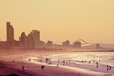 Durban, South Africa beach and skyline. Somehow living in Durban I stopped seeing the beauty of it Framing Photography, Beach Photography, South Africa Beach, My Family History, Kwazulu Natal, Community Events, The Places Youll Go, East Coast, Monument Valley