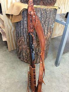 Handmade Leather Gun Stock Forearm Cover Shell Holder Sling No Drill Western