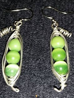 3 Peas in a Pod Earrings by KWHickoxDesigns on Etsy