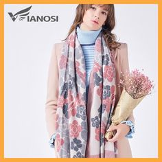 fbd487fbb9ed VIANOSI Cashmere Scarf Women Winter Scarves Wrap Luxury Brand Foulard  Fashion Bufandas Mujer 2017 Scarf VA229