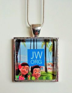 JW.org Caleb and Sophia pendent necklace by EvilKittyCove on Etsy