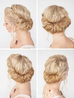 This style is so much easier to do than you think! It takes less than 2 mins to do. Check out Hair Romance's 30 Days of Curly Hairstyles ebook at http://www.hairromance.com/shop to learn how to master your curls