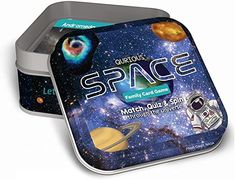 Amazon.com: Qurious Space | STEM Flash Card Game | Explore, Match, Quiz & Spin Through The Universe. Perfect for Astronomy Fans and Future Astronauts: Toys & Games Logic Games For Kids, Space Games For Kids, Card Games For Kids, Gifts For Kids, Spin, Video Game Storage, Stocking Stuffers For Boys, Family Card Games, Cube Games