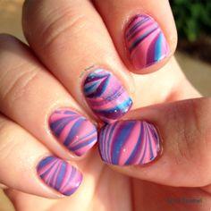 China Glaze Off Shore Water Marble (right hand) | Erin's Enamel #chinaglaze #nails #nailpolish #nailart #watermarble