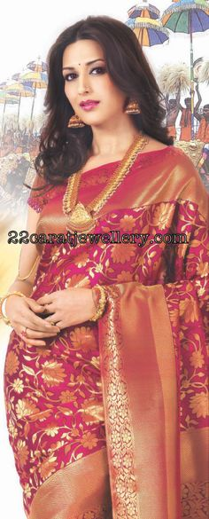 Jewellery Designs: Sonali Bendre Nakshi Jewellery(Kalyana kanchi ad)