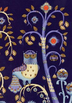 '34' by sunnydayshere - very royal looking owl.., finnish designer Klaus Haapaniemi