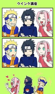 Find images and videos about naruto, sakura and sasuke on We Heart It - the app to get lost in what you love. Naruto And Sasuke Funny, Naruto Team 7, Naruto Sasuke Sakura, Naruto Cute, Naruto Shippuden Sasuke, Anime Naruto, Sasunaru, Sakura Haruno, Naruto Comics Funny