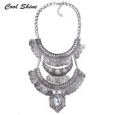 2016 mới thời trang vintage vòng cổ cổ áo chuỗi choker tuyên bố mặt dây chuyền dây chuyền & mặt dây collier femme maxi trang sức phụ nữ
