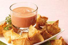 Baluchon au jambon et au fromage, sauce rosée