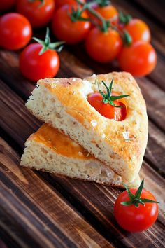 Dukan Focaccia with tomatoes
