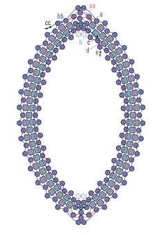 peyote bezels 101 - Navette stone (32 x 17 mm)