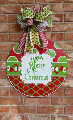 Christmas Ornament Door Hanger  Large  Door Hangers  Pinterest
