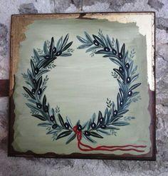 Ζωγραφική σε ξύλο Paintings I Love, Decoupage, Clay, Drawings, Frame, Flowers, Decor, Olive Tree, Canvases
