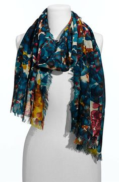 Halogen® 'Watercolor' Print Challis Scarf