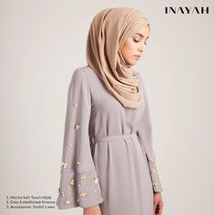 Modest Fashion for Modern Women by Inayah Abaya Fashion, Modest Fashion, Fashion Outfits, Hijab Style, Hijab Chic, Moslem Fashion, Hijab Dress Party, Kebaya Dress, Modele Hijab