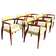Bert England Sculptural Dining Chairs, Set of Six | From a unique collection of antique and modern dining room chairs at http://www.1stdibs.com/furniture/seating/dining-room-chairs/