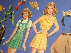 Bette Davis paper dolls.