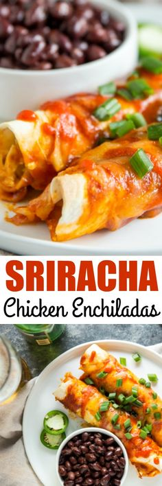 Learn the secret to making enchiladas with flour tortillas then. Learn the secret to making enchiladas with flour tortillas then stuff them with a creamy chicken filling and Sriracha-infused Gouda! via Culinary Hill Mexican Dishes, Mexican Food Recipes, New Recipes, Dinner Recipes, Cooking Recipes, Favorite Recipes, Ethnic Recipes, Easy Recipes, Instant Recipes