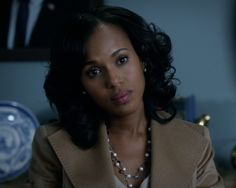 Highlighting the necklace on this.  Awesome piece.  Lady like...simplistic. olivia pope | olivia pope fitzgerald grant scandalabc olitz scandal abc moments ...