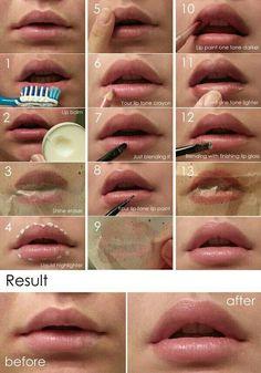 Einfach und schnell volle lippen