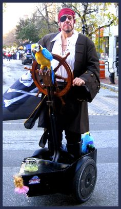 Pirate on a segway
