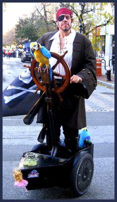 Pirate on a segway