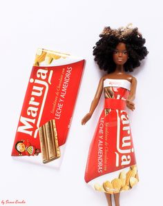 """ maruja chocolate "" by Sanae Errabie Diy Barbie Clothes, Chocolate, Old Pictures, Diy And Crafts, Upcycle, Recycling, Wonder Woman, Dolls, Superhero"