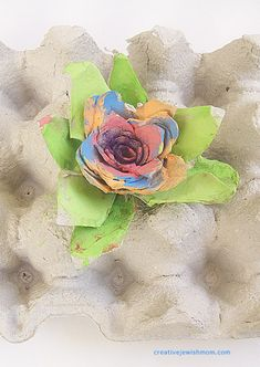 Egg Carton flower with many layers