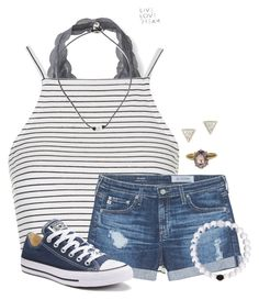 Summer Days by auburnlady on Polyvore featuring Topshop, AG Adriano Goldschmied, Aéropostale, Converse and Adina Reyter