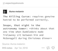 So it's a good thing Dumbledore was already weak.