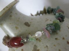 Agate and gemstone bracelet by Trudysbeads on Etsy