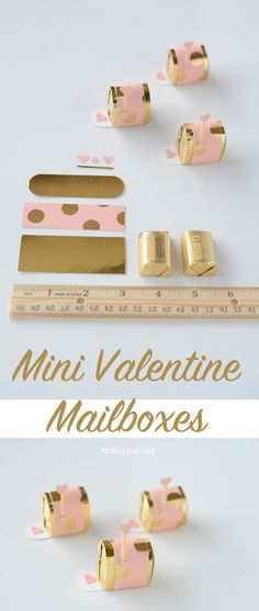 Mini Valentine Mailboxes. You'll have to try making them, they're so simple and cute! Great gift idea for all your friends and loved one. They will adore how tiny and cute!
