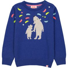 7bf63b4a96d3bd STOCKHOLM Jacquard Knit jumper / Indigo Blue (Polar Bears & Northern Lights)