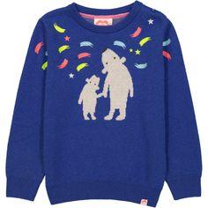 7bf63b4a96d3bd STOCKHOLM Jacquard Knit jumper / Indigo Blue (Polar Bears & Northern Lights)